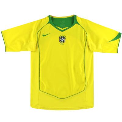 2004-06 Brazil Nike Home Shirt XL