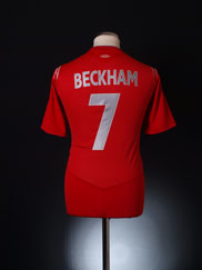 2004-06 England Away Shirt Beckham #7 M