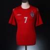 2004-06 England Away Shirt Beckham #7 M