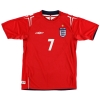 2004-06 England Away Shirt Beckham #7 XXL