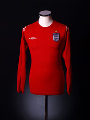 2004-06 England Away Shirt L/S XXL