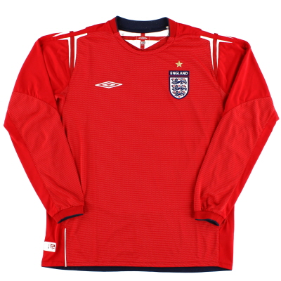 2004-06 England Away Shirt L/S  L