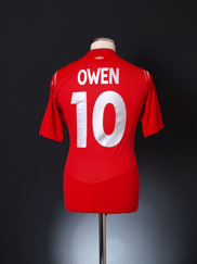 2004-06 England Away Shirt Owen #10 M