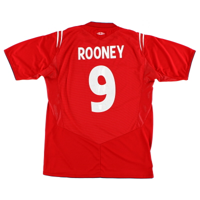 2004-06 England Away Shirt Rooney #9 L