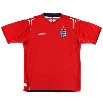 2004-06 England Umbro Away Shirt XL