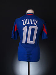 2004-06 France Home Shirt Zidane #10 *BNIB* L