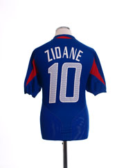 2004-06 France Home Shirt Zidane #10 L