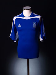 2004-06 Greece Home Shirt M