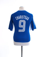 2004-06 Greece Home T-Shirt Charisteas #9 L