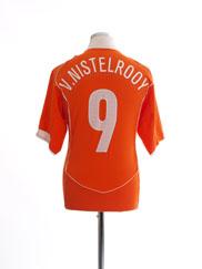 2004-06 Holland Home Shirt v.Nistelrooy #9 L