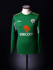 2004-06 Ireland Home Shirt L/S  S