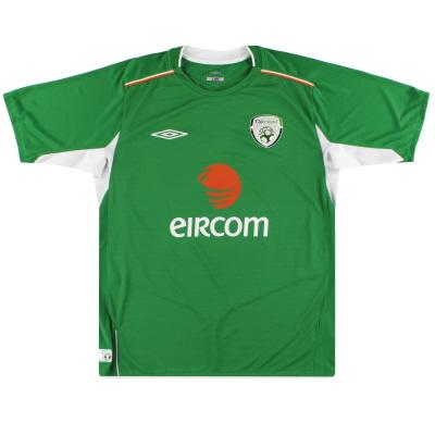 2004-06 Ireland Umbro Home Shirt L.Boys