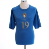 2004-06 Italy Home Shirt Lucarelli #19 XL