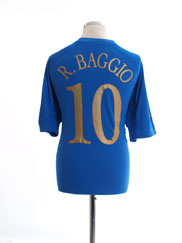 2004-06 Italy Home Shirt R.Baggio #10 XL
