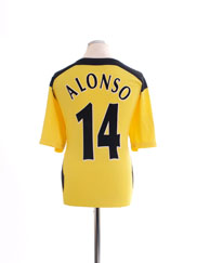 2004-06 Liverpool CL Away Shirt Alonso #14 L