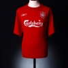 2004-06 Liverpool Home Shirt Baros #5 M