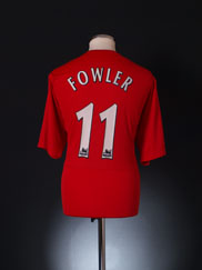2004-06 Liverpool Home Shirt Fowler #11 XL