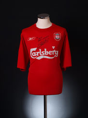2004-06 Liverpool Match Issue Home Shirt Warnock #28 XL