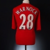 2004-06 Liverpool Match Issue Home Shirt Warnock #28 XL