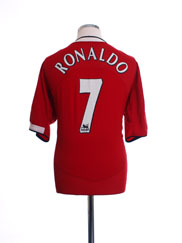 2004-06 Manchester United Home Shirt Ronaldo #7 M