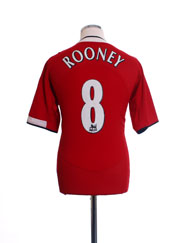 2004-06 Manchester United Home Shirt Rooney #8 M