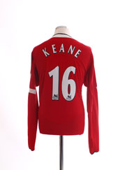 2004-06 Manchester United Home Shirt Keane #16 L/S *Mint* L