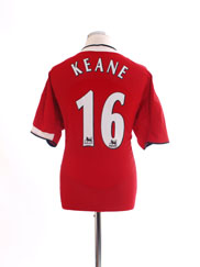 2004-06 Manchester United Home Shirt Keane #16 L