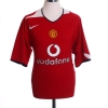 2004-06 Manchester United Home Shirt Keane #16 L