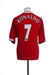 2004-06 Manchester United Home Shirt Ronaldo #7 XL