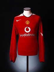 2004-06 Manchester United Home Shirt L/S XXL