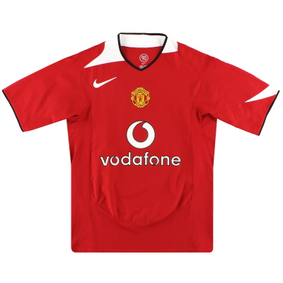 2004-06 Manchester United Home Shirt L