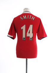 2004-06 Manchester United Home Shirt Smith #14 L