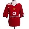 2004-06 Manchester United Home Shirt Gabriel #4 XL