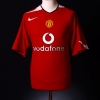2004-06 Manchester United Home Shirt Keane Red Legend #16 M