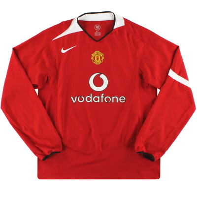 2004-06 Manchester United Nike Home Shirt L/S M