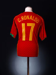2004-06 Portugal Home Shirt C.Ronaldo #17 L