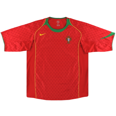 2004-06 Portugal Nike Home Shirt *Mint* S