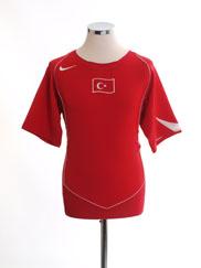 2004-06 Turkey Home Shirt M