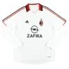 2005-06 AC Milan adidas Player Issue 'Formotion' Away Shirt Vogel #14 L/S XL
