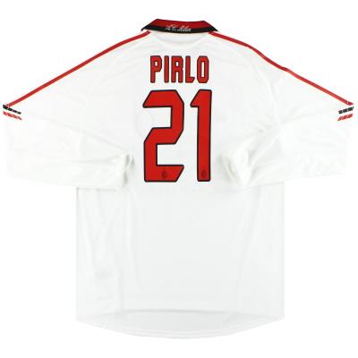 2005-06 AC Milan adidas Player Issue 'Formotion' Away Shirt Pirlo #21 L/S XL