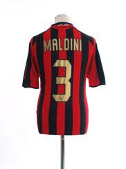 2005-06 AC Milan Home Shirt Maldini #3 *Mint* M