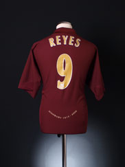 2005-06 Arsenal Highbury Home Shirt Reyes #9 XL