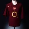 2005-06 Arsenal Commemorative Highbury Home Shirt Adams #6 XL