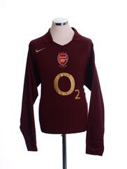 2005-06 Arsenal Highbury Home Shirt L/S *Mint* XL