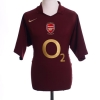 2005-06 Arsenal Commemorative Highbury Home Shirt Bergkamp #10 *Mint* L