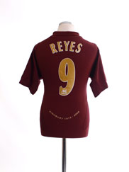 2005-06 Arsenal Commemorative Home Shirt Reyes #9 M