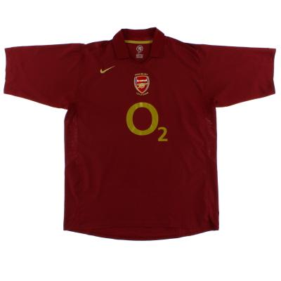 2005-06 Arsenal Commemorative Highbury Home Shirt M