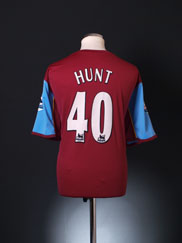 2005-06 Aston Villa Player Issue Home Shirt Hunt #40 XL