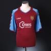 2005-06 Aston Villa Player Issue Home Shirt Hunt #40 XL