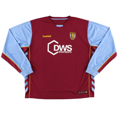 2005-06 Aston Villa Home Shirt L/S XXL
